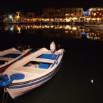 crete city tour rethymno harbor night life